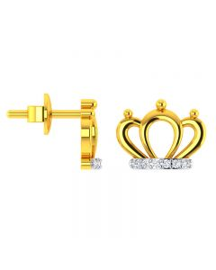 VKE-944 | 14KT Yellow Gold Kids Studded Earrings VKE-944