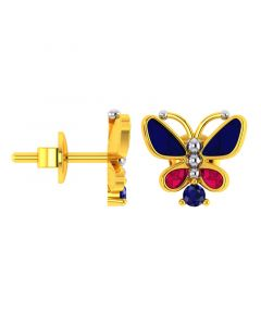 VKE-948 | 14KT Yellow Gold Kids Stud Earrings VKE-948