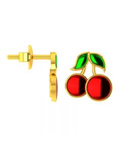 VKE-950 | 14KT Yellow Gold Kids Stud Earrings VKE-950