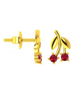 VKE-951 | 18KT Yellow Gold Kids Stud Earrings VKE-951