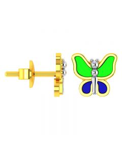 VKE-952 | 14KT Yellow Gold Kids Stud Earrings VKE-952