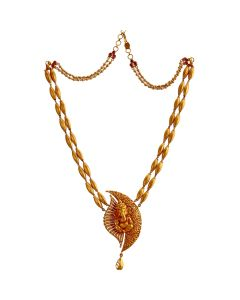 201VA1084 | Rice-Bran Ganesha Gold Necklace