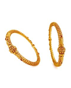 201VA1213 | Ornate Golden Orb Gold Bangles