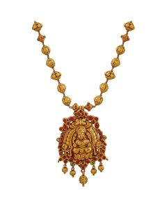 201VA1214 | Lakshmi Ruby Gold Necklace