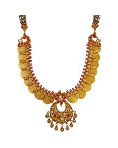 201VA1237 | Lakshmi Coin Gold Necklace