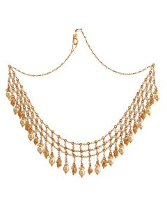 10VG2203 | Contemporary Fishnet Gold Necklace