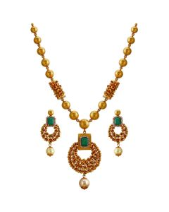 123VG3109 | Emerald Necklace Set
