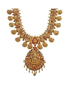 124VG1498 | Exquisite Paisely Gold Necklace