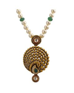 127VG2354   Cheerful Paisely Gold Necklace