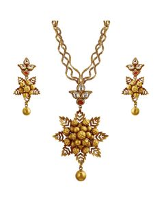 127VG2601 | Festive Star Gold Necklace Set