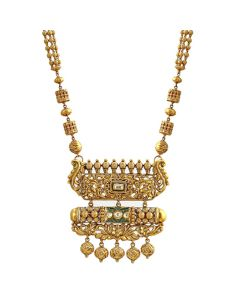 127VG3150 | Double-Pendant Royal Gold Necklace