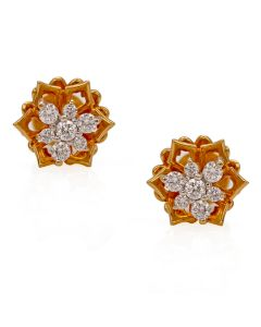 155G2207 | Offbeat Nakshatra Diamond Studs Earring