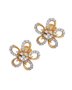 155G2812 | Alluring Flower Diamond Earrings
