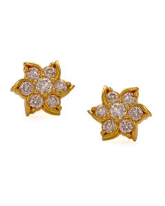 155G3151 | Sophisticated Swirly Flower Diamond Studs