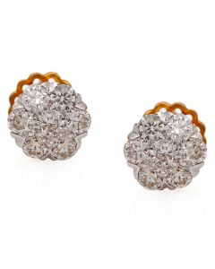 155G620 | Oval Orb Diamond Stud