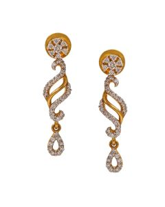 155G972 | Swirl Drop Diamond Earrings