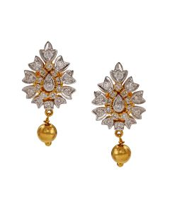 155MA60 | Grand Orb Drop Diamond Earrings