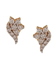 155VG3460 | Graceful Conch Diamond Studs