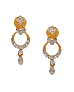 155VG3627 | Muti-tiered Drop Diamond Earring