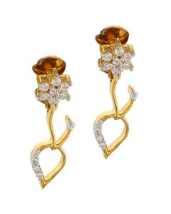155VG3800 | Graceful Tulip Diamond Earrings