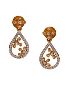 155VG5059 | Peek- A-Boo Diamond Danglers Earring