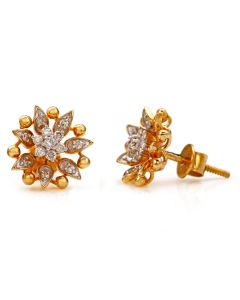 155VG5656 | Floral Inspiration Diamond Studs Earring