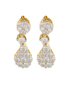 155VG5796 | Cluster Diamond Earrings