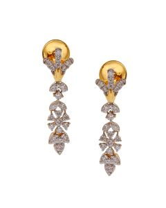 155VG5929 | Sleek Floral Diamond Danglers