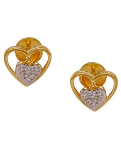 155VG5967 | Heart-to-Heart Diamond Studs