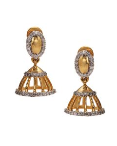 155VG6020 | Exquisite Dazzling Diamond Jhumkas Earrings