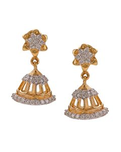 155VG6034 | Graceful Star Diamond Jhumkas