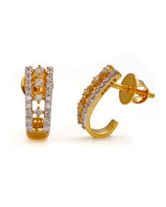 155VG6458 | Half loop Diamond Studs Earring