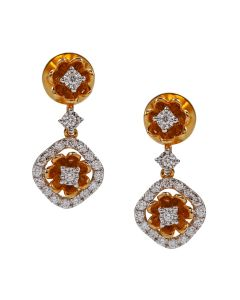 155VG6510 | Breathtaking Enamel Diamond Danglers