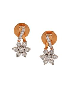 155VG6524 | Floret Drop Diamond Earrings