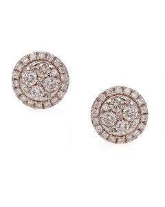 155VG6595 | Chic Wheel Diamond Studs Earrings