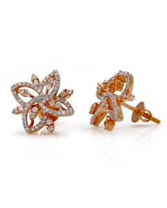 155VG6603 | Designer Flower Diamond Studs