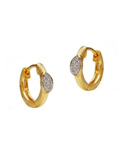 155VG6734 | Marquise Hoop Diamond Earrings