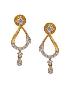 155VG6747 | Sleek Mango Diamond Danglers