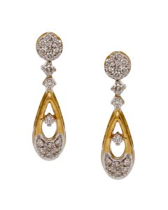 155VG6798 | Elegant Drop Diamond Earrings