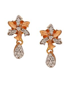 155VG6969 | Swirl Flower Drop Diamond Earrings