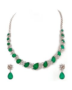 159VG2019 | Leafy Galore Diamond Necklace Set
