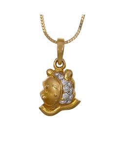 166A5491 | Winsome Bear Diamond Pendant
