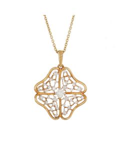 166VG1567 | Knitted Clover Diamond Pendant