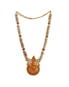 451VG626 | Divine Pearl Cluster Pachi Gold Necklace