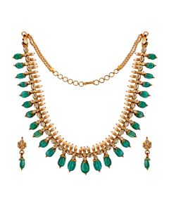 451VG673 | Traditional Emerald Gold Necklace