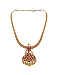 451VG676   Traditional Ruby Gold Necklace