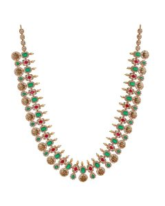 111VG1606 | Grand Emerald and Ruby Precious Gold Necklace