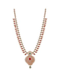 111VG1634 | Paisely Floral Precious Gold Necklace