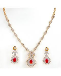 159VG1166 | Extraordinary Vase Diamond Necklace Set