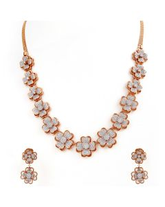 159VG2014 | Clover Cluster Diamond Necklace